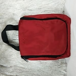 LL Bean Red Toiletry Case